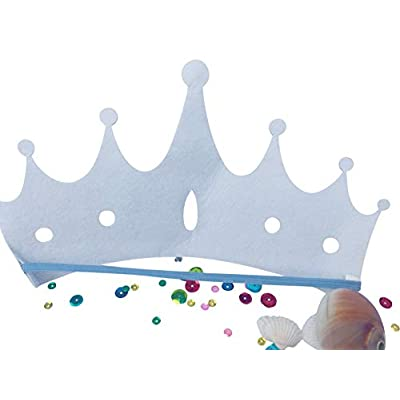 Mermaid Crown Tiara for Girls: Mermaid Hair Accessories for Kids and Toddlers: Toys & Games