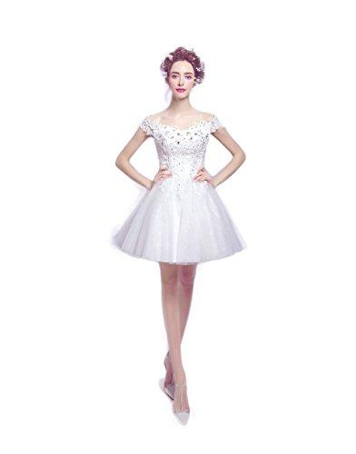ディーラー火山学者そのミニウェディングドレス ミニドレス演奏会 発表会 パーティードレス 二次会 披露宴 成人式 ワンピース  ショート フォーマルドレス ブライズドレス 白いドレス