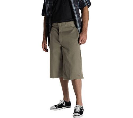 Dickies Loose Fit Multi Pocket Work Short Khaki 46
