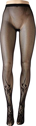 (Wolford Women's Wildflower Net Tights Black X-Small)