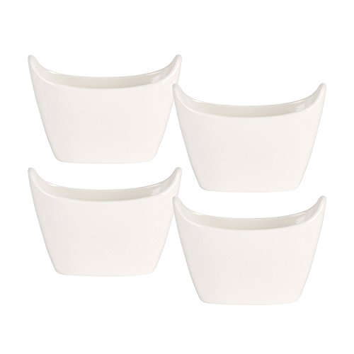 BBQ Passion French Fry Cup Set of 4 by Villeroy & Boch - Premium Porcelain - Made in Germany - Dishwasher and Microwave Safe - 8.75 Ounce Capacity