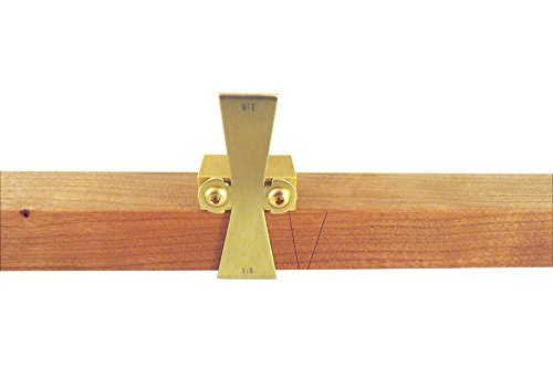 Taytools Solid Brass Dovetail Marking Jig Dovetail Marker for Stock up to 1