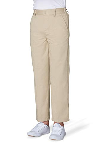 - French Toast Boys' Big Relaxed Fit Pull-on Twill Pant, Khaki, 8