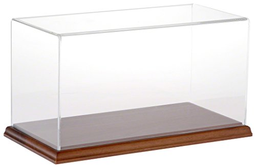 (Plymor Brand Clear Acrylic Display Case with Hardwood Base, 12