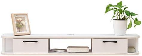 テレビラック 現代のセットトップボックスルータ浮動ストレージ用テレビスタンドメディアコンソールテレビスタンドを壁に取り付けられました テーブルにも使える (Color : White, Size : 170x24x16cm)