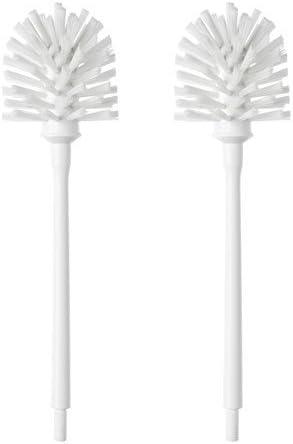 White Set of 2 Ikea HEJAREN Replacement Toilet Brush