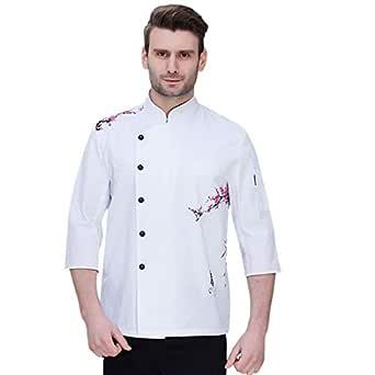 Pinji Chaqueta Chef Unisex Camisa de Cocinero Manga Larga de ...