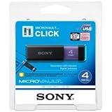 Sony Micro Vault Click 4 GB USB 2.0 Flash Drive with Virtual Expander USM4GL