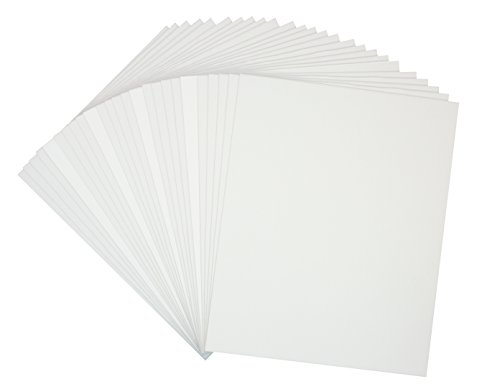 Mat Board Center, Pack of 25 18x24 1/8'' White Foam Core Backing Boards by Mat Board Center
