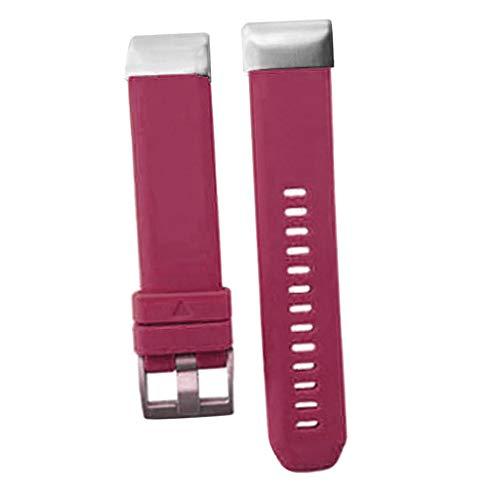 D DOLITY 22mm Width Soft Silicone Watch Strap Band for Fenix 5/Fenix 5 Plus/Forerunner 935/Forerunner 945/Approach S60/Quatix 5 - Purple