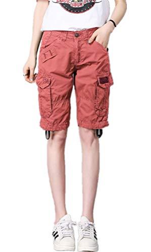 A Larghi Corti Laisla Maniche Pantaloncini Bassa Donna Vita Fashion Ragazzi Corte Arancia Da Classiche Bretelle wXX4Paq