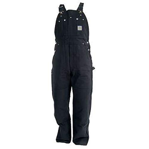 - Carhartt Men's Duck Bib Overall Unlined R01,Black,38 x 30