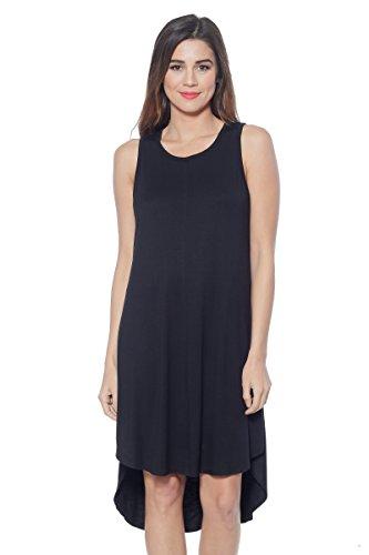 Alexander + David Womens Midi Tunic Dress, Casual Summer Lightweight Sleeveless Tunic W/Keyhole (S-XL)