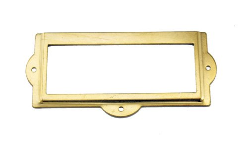 [J401 - 3 1/2'' Width x 1 1/2'' Height Brass Plated Cardholder] (Brass Plated Card Holder)