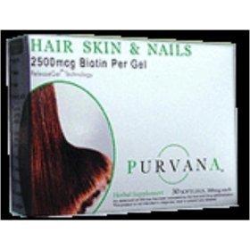Purvana cheveux, peau et ongles - 30 gélules (Pack de 2)