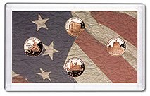 2009 S Proof Lincoln Cent 4-coin Set - All 4 NEW designs! Proof