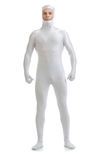 Face Open Zentai Lycra Spandex Bodysuit Metallic Unitard Long Sleeves Second Skin Full Body Skin Costumes -