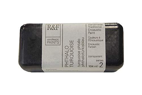 R&F Handmade Paints 1123 Encaustic Paint 104ml, Phthalo Turquoise