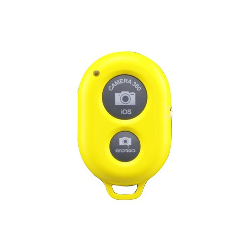 BestFire® Wireless Camera Bluetooth V3.0 Self-timer Remote Shutter Controller for Iphone 5 5s 5c 4s 4, Ipad 5 4 3 Ipad Air Mini, Samsung Galaxy S4 S3 Note 3 2, Android Phone IOS android mtk samsung xiaomi 1s 2s 3+ mobile Smartphone Tablet Ipad 3 2 mini iPod Sony xperia Samsung Galaxy S2 S3 S4 S5 Note 1 2 3 GALAXY Tab 2 note8 10.1+ Note 1/2/3+ Nexus 4 5 7 DC449, wide Operational up to 30 feet (Yellow)