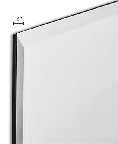 Large simple rectangular streamlined 1 inch beveled wall - Large horizontal bathroom mirrors ...