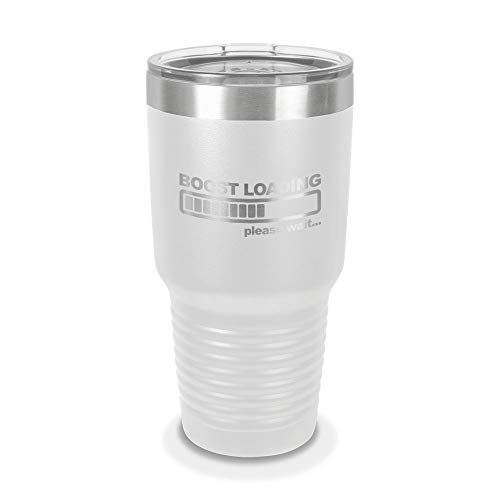 Boost Loading 30 oz Laser Engraved Polar Camel Stainless Steel Vacuum Insulated Tumbler w/Clear Lid jdm kdm import turbo drift - Customizable - White