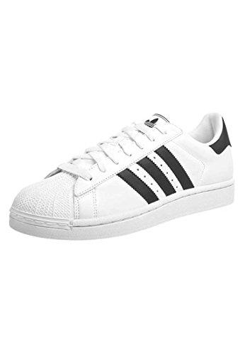 Mens SUPERSTAR II-Sneaker-weiß schwarz/Herren Sneakers Schuhe adidas Originals