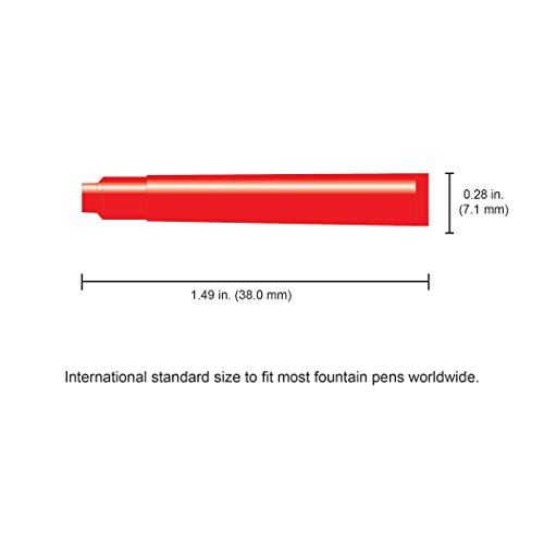 Monteverde Internatinal Size Cartridge to Fit Fountain Pens, Red, 6 per Pack (G302RD) Photo #3