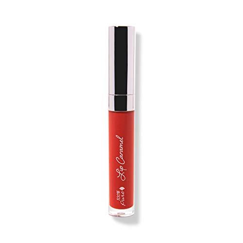 100% PURE Lip Caramel, Scotch Kiss, Long Lasting Liquid Lipstick, Nude lipstick with Glossy Finish, Natural lipstick, Vegan Makeup - 0.177 Fl Oz