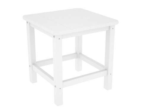 "POLYWOOD SH18WH Seashell 18"" Side Table, White"