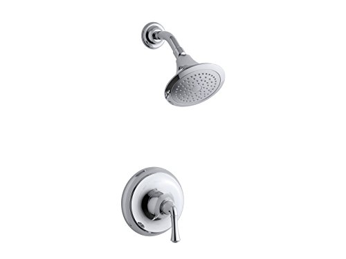 (Kohler TS10276-4A-CP Forte Traditional Rite-Temp Shower Valve Trim with 2.5 Gpm Showerhead (New Model))