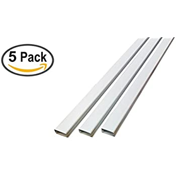 small latching cable raceway 375 series 5ft white 5 sticks home audio theater. Black Bedroom Furniture Sets. Home Design Ideas