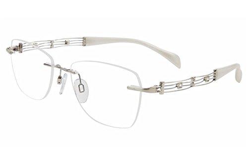 Charmant Line Art Women's Eyeglasses XL2108 XL/2108 WP White Optical Frame ()