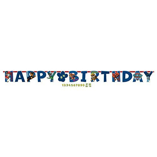 Amscan Amazing Paw Patrol Birthday Party Jumbo Add-An-Age Letter Banner, Blue, 10 1/2 x 10 (2-Pack)
