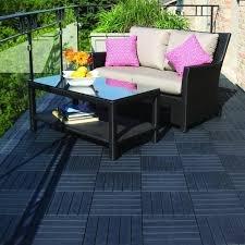 Multy Home Black Rubber Deck Tile Black Rubber