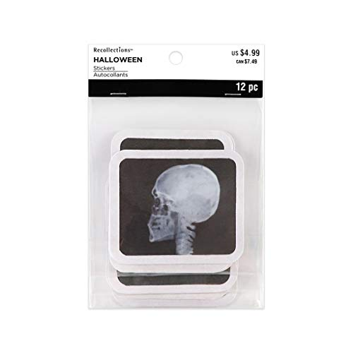 Recollections Halloween Stickers, Square X Rays, 12 Pieces -