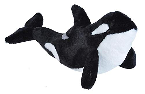 Killer Whale And Dog (Wild Republic Orca Plush, Stuffed Animal, Plush Toy, Gifts for Kids, Cuddlekins, 20)
