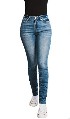 Mashed Potatoes Jeans Women's Scrunched Mid Rise Dark Ocean 13