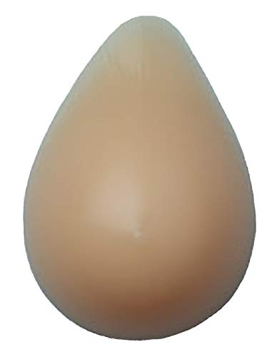 Nearly Me - #870 Basic Standard Weight Tapered Oval Silicone Mastectomy Breast Form, Beige (Size: 3)