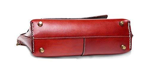 Pelle In Da Borsa Spalla Per A colore Tracolla Dimensione Chocolate Tempo Rosso Donna Libero Willsego HCqwvUxU