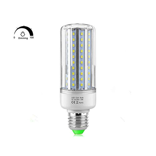 (2Pcs LED Corn Light Bulbs SCR Dimming,E27 LED Corn Lamp Constant Current Driver Dimmable, AIMENGTE 110V 5W 10W 15W 20W No Flicker Energy Saving Safe LED Corn Bulb. (Warm White,)