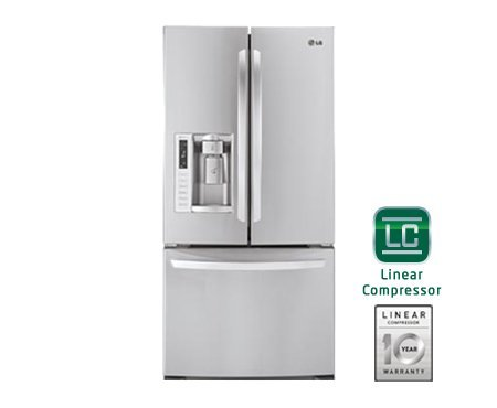 LG LFX25978ST 24.9 Cu. Ft. French Door Refrigerator with Ice and Water Dispenser - Stainless Steel by LG
