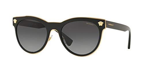 versace Woman Sunglasses, Black Lenses Metal Frame, 54mm by Versace