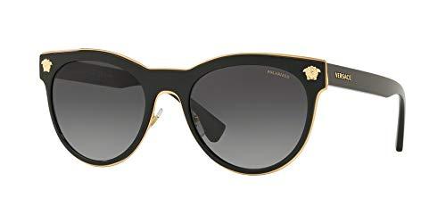 Versace Woman Sunglasses, Black Lenses Metal Frame, ()