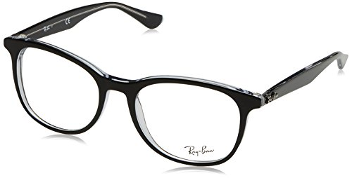 Eyeglasses Unisex Black Rx5356 Transparent Ray ban On Top qB1fZZS