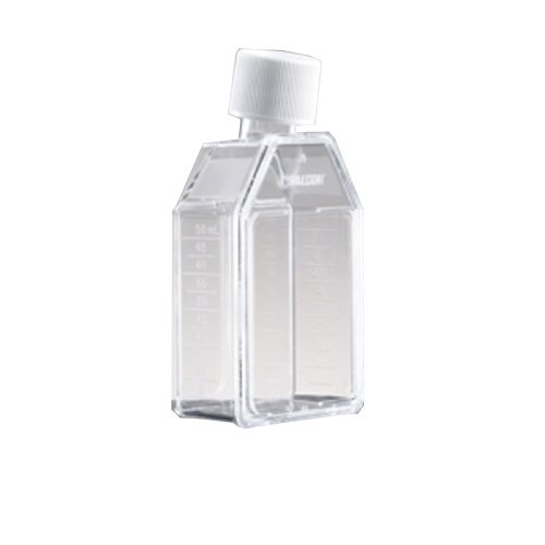 - CORNING 353082 Falcon Cell Culture Flask with Plug Seal Screw Cap, Canted Neck, 25 cm² Culture Area, Rectangular
