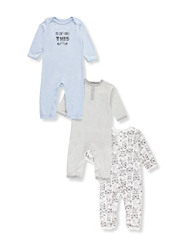 eede5149433e OPAWO Baby Boys  Footed Sleeper Pajamas 3 Pack 9-12 Months ...