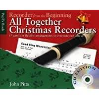 John Pitts Recorder From The Beginning All Together Christmas Bk/Cd