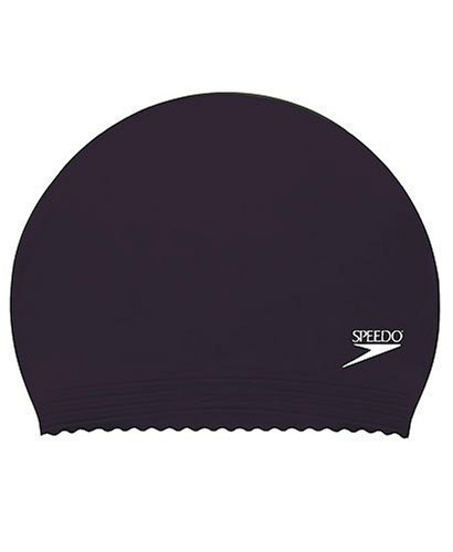 Speedo Latex Solid Swim Cap, Black