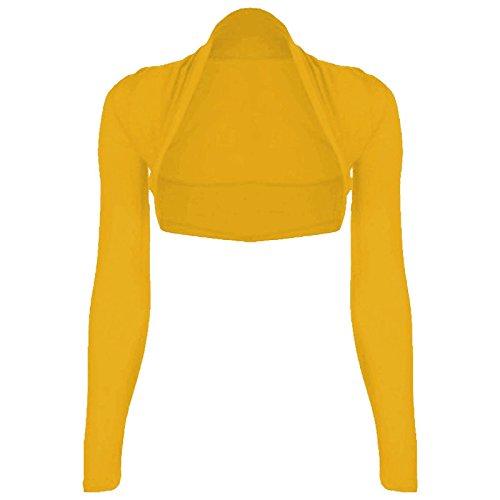 Aperto Basic Lunga Mustard Donna Generic Coprispalle ExWqCP7ff