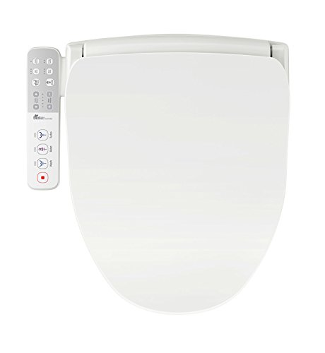 Bio Bidet Slim ONE Smart Toilet Seat in Elongated White with Stainless Steel Self-Cleaning Nozzle, Nightlight, Turbo Wash, Oscillating, and Fusion Warm Water (Best Affordable Washer And Dryer 2019)